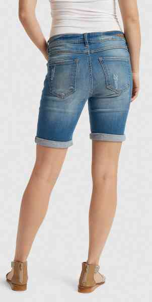 b young - kato luxe blau DAMEN SHORTS