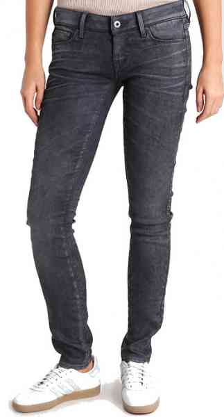 G-STAR RAW 3301 Low Skinny Loomer Damen Jeans ,Grey Stretch